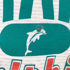 Russell Athletic Sweaters - Vintage Miami Dolphins Striped Crewneck Men's